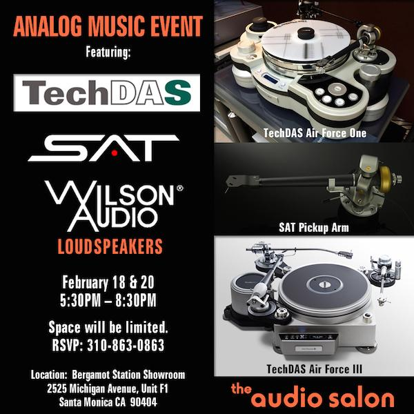 Join Me at the Audio Salon, Santa Monica, CA on February 18th and 20th