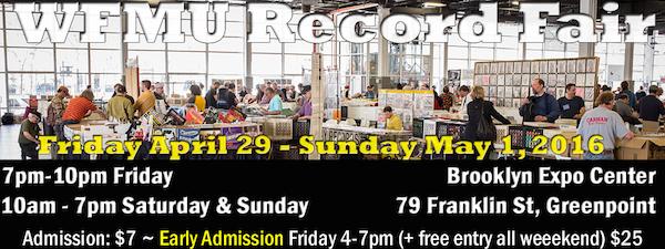 WFMU Record Fair Tonight, Saturday and Sunday!