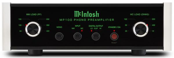 McIntosh Debuts $2000 MP100 MM/MC Phono Preamp With Built In A/D Converter